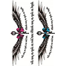 Yeeech Temporary Tattoos Stickers Cesarean Birth Belly Scar Decals Magic Wings Letter Sexy Products for Women Waterproof