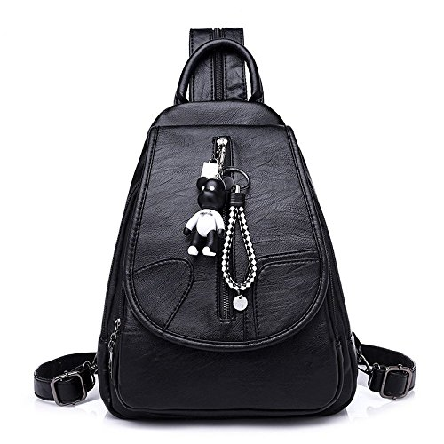 noir femme gris cuir dos Casual école en Myll Sac à pour Sacoche Fille Hg7ffO