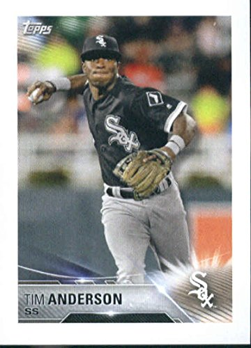2018 Topps MLB Baseball Sticker Collection #121 Tim Anderson Chicago White Sox Paper Thin 2 by 3 inch Stickers for Album
