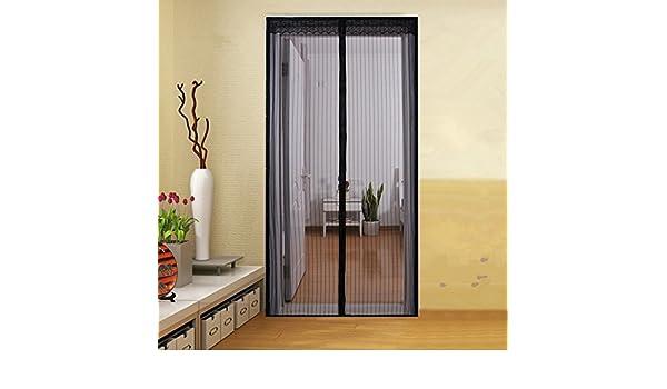Magnético Protector de puerta, manos Libre Mosquito y Bug cortina de malla instantánea, fácil de instalar Compatible con aperturas de puerta negro: Amazon.es: Jardín