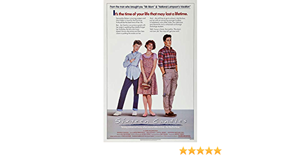 """24/"""" x 36/"""" Sixteen Candles Official Movie Poster"""