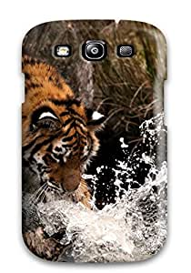 Christmas Gifts 9728404K67130406 Galaxy Hard Case Cover For Galaxy S3 Tiger Paw Hitting Water