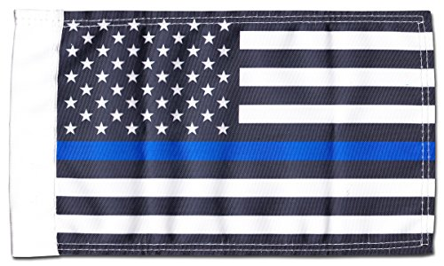 Thin Blue Line (USA) – 9″ x 13″ Motorcycle Flag