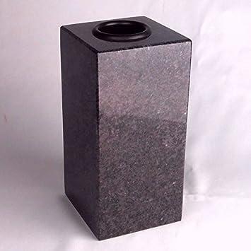 """designgrab """"Cube de Medium – Jarrón de granito de Orion Blue/coroma"""