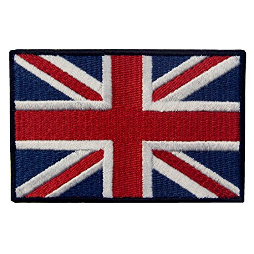 EmbTao Patches British Union Jack Embroidered England Flag U