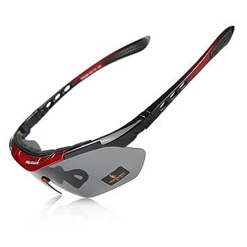 Free soldier - Gafas para deportes (5 lentes intercambiables, protección UV400, gafas de sol, polarizadas, para deportes), hombre, rojo: Amazon.es: Deportes ...