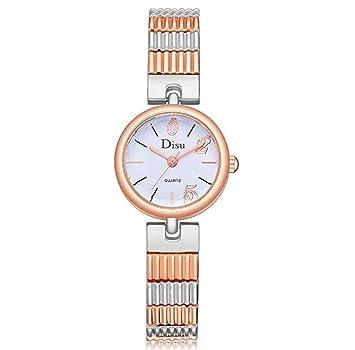 Relojes para mujer, ICHQ mujeres mujeres adolescentes niñas elegante moda vestido pulsera de cuarzo reloj casual simple analógico cuarzo relojes clásicos ...