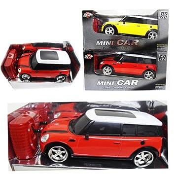 indigo radio control yellow mini cooper racing rc car 120scale