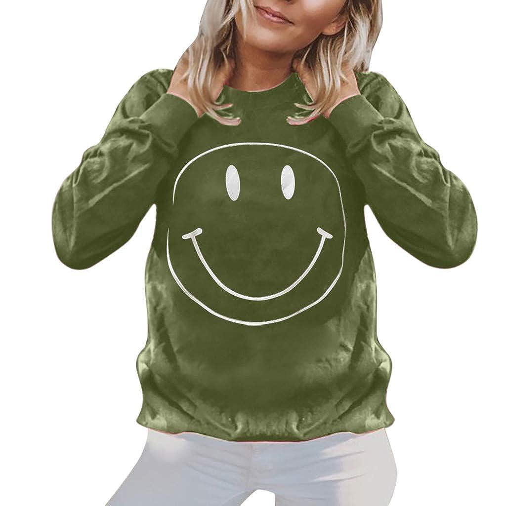 LEKODE Women T-Shirts Round Neck Coat Printed Long Sleeve Tops