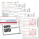 Tangible Values 1099 Misc Laser Forms (4-Part) Kit with Envelopes for 50 Individuals (2016)