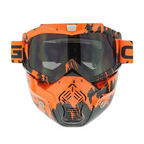Heinmo Protección de cara completa para airsoft con anteojos de motocross, cascos de equipo táctico, Goggles-1