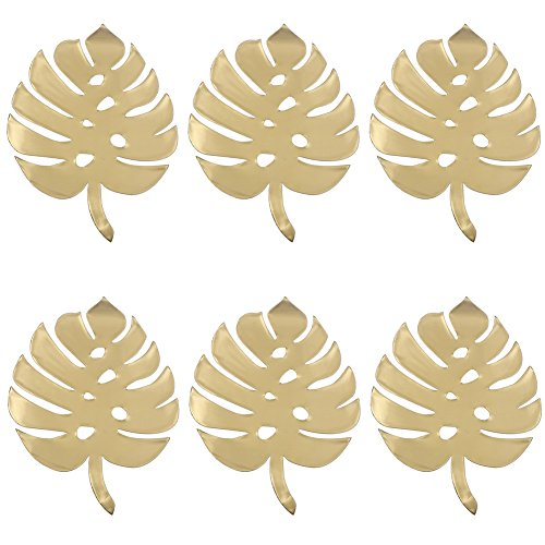 (qiguch66 Decorations for Living Room, 6Pcs Nordic Style DIY Paper Turtle Palm Leaves Party Wedding Home Backdrop Decor - Turtle Leaves Golden)
