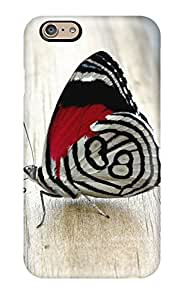 7972131K57346161 Awesome Case Cover Compatible With Iphone 6 - Black And White Butterfly