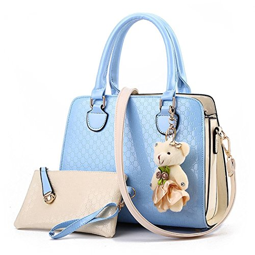 Ryse Womens Fashionable Exquisite Bear Ornaments Mixed Color Handbag Shoulder - Mcqueen Designer Lee