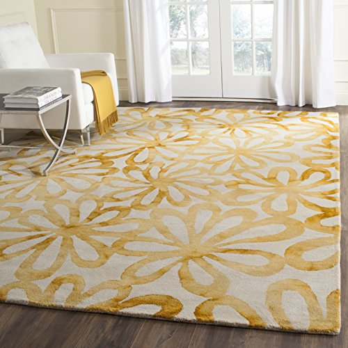 Safavieh Dip Dye Collection DDY527M Beige and Gold Area Rug, 9' x 12'