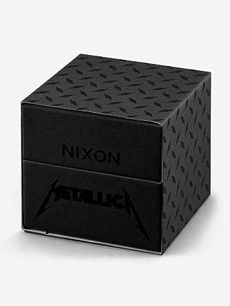 Amazon.com: Nixon Mens Sentry Leather Metallica Collection - Black Album Black/Black Album One Size: Watches