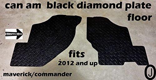 Custom Floorboard - Can Am Commander Custom Cut Black Diamond Plate Floor Boards
