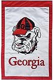 University of Georgia (Bulldog) - 28'' x 44'' Double Sided Appliqued NCAA Banner