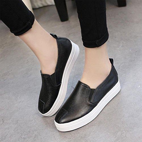 scarpe ascensore Ms. primavera rotonde sceglie i pattini scarpe casual signora scarpe sportive della bocca poco profonda , US6.5-7 / EU37 / UK4.5-5 / CN37