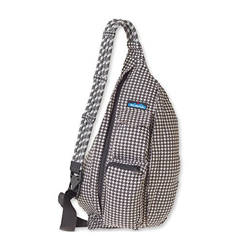 KAVU Rope Bag-Black Houndstooth