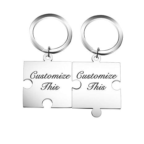 Amazon.com: Llavero personalizable con nombre de puzles a ...