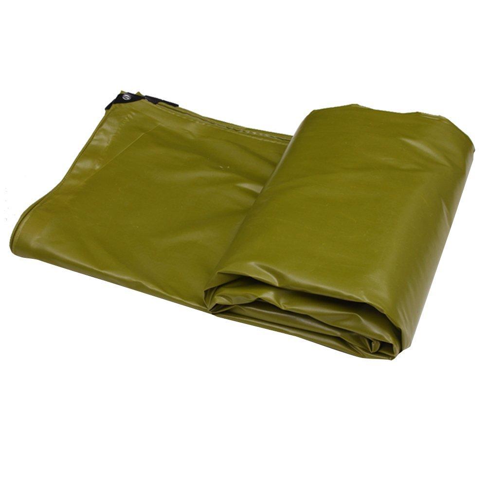 AJZGF Regenschutz Wasserdicht Thick Plane, Wasserdichte Plane Isomatte, LKW-Plane Anti-Korrosions-und Anti-Oxidation (Farbe   Armeegrün, größe   4X6M)