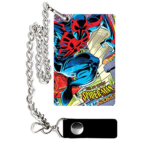 (Silver Buffalo SM0401CW Marvel Stan Lee Presents Spiderman Chain Wallet)