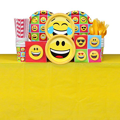 Happy Birthday Emoji Tableware Package for 16