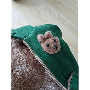 Yan's Baby Winter Coat Jacket Thick Wool Inside Kids Warm Winter Top (10-18Month, Green)