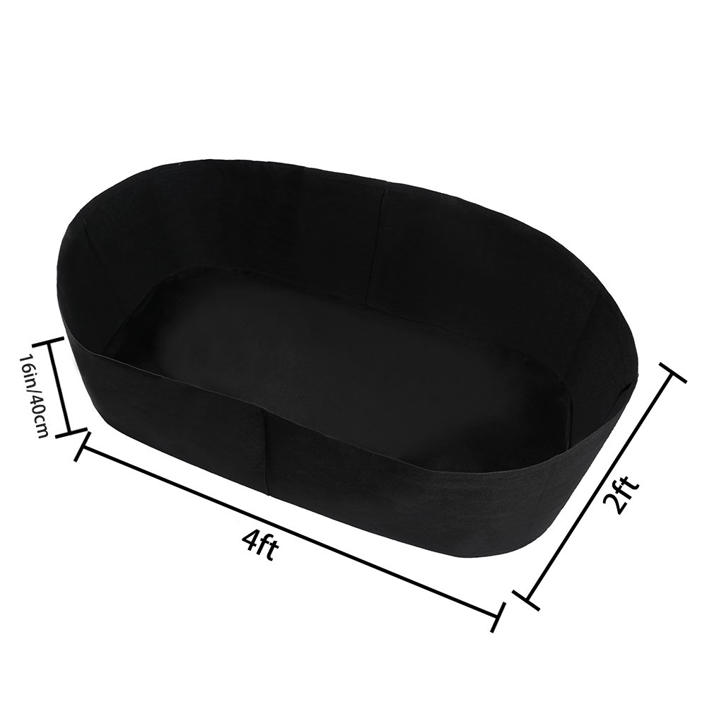 Garden Grow Bags Herb Flower Vegetable Plants Bed Rectangle Planter 2/'x4 Fabric Raised Planting Bed