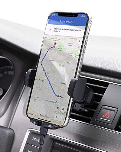 🥇 AUKEY Soporte Móvil Coche Rejillas del Aire 360 Grados Rotación Soporte Teléfono Coche Ventilación para iPhone XS / XS Max