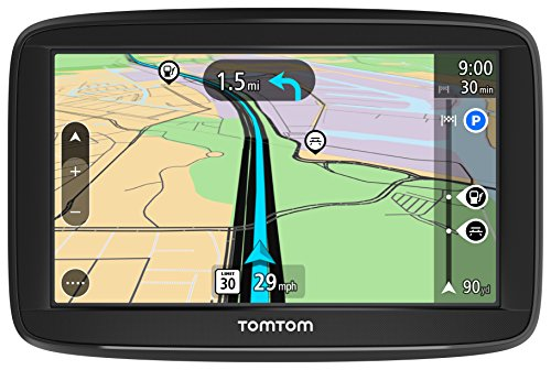 TomTom VIA 1425M 4-Inch GPS Navigation Device with Free Lifetime Maps of North America, Advanced Lane Guidance and Spoken Turn-By-Turn Directions by TomTom