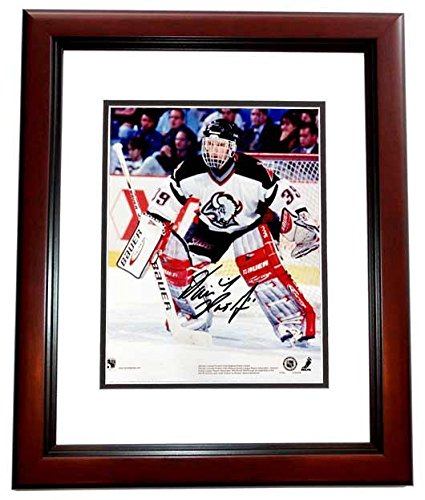 Dominick Hasek Signed - Autographed Buffalo Sabres 8x10 inch Photo MAHOGANY CUSTOM FRAME - Guaranteed to pass or JSA - PSA/DNA Certified (Sabres Photo Nhl Buffalo Signed)