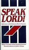 Speak Lord! 9781555861506