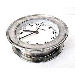Brass Blessing LARGE - SHIP'S Nautical Clock – Marine WALL Clock – Aluminium - Boat/Maritime/Naval (5009C)