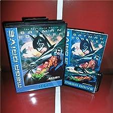 Batman Forever EU Cover with Box and Manual For Sega Megadrive Genesis Video Game Console 16 bit MD card - Sega Genniess - Sega Ninento, 16 bit MD Game Card For Sega Mega Drive For Genesis