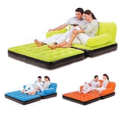 Comfortquest Double Velvet Sofa Cum Bed Air Lounge Inflatable