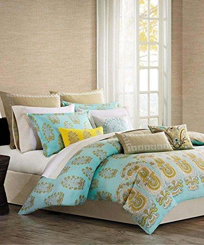Echo Design Paros Aqua Foulard Floral Design Twin Duvet Cover