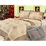 7pcs Modern Embroidery Quilt and Sheets Set