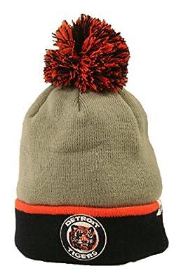 '47 Detroit Tigers MLB Grey Knit Hat w/Pom
