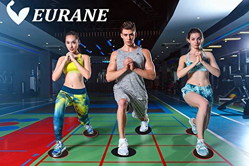 EURANE Set of 4 Gliding Discs Sliders Exercise Core, Dual Sided for Carpet or Hardwood Floors - Trainer Fitness Equipment for Abdominal, Total Body Workouts by EURANE (Image #7)