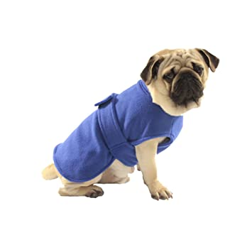 Cutepet Toalla para Perros Albornoz para Mascotas Absorbentes Abrigo De Invierno,Blue,XS