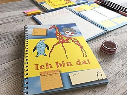 Diario de bebé Ich bin Da.
