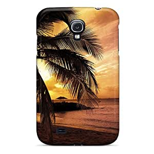 Galaxy S4 Case Cover - Slim Fit Tpu Protector Shock Absorbent Case (sunset At The Bay)