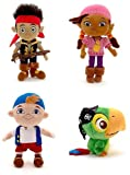 "Disney Store Disney Junior Jr. Jake and The Never Land/Neverland Pirates Plush Stuffed Doll Toy Gift Set Including 12"" Jake, 12"" Izzy, 12"" Cubby and 8"" Skully"