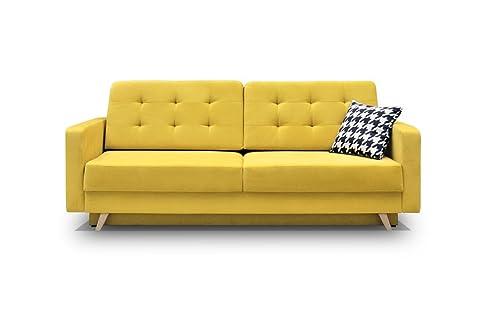 Schlafsofa gelb  Schlafsofa Kippsofa Sofa mit Schlaffunktion Klappsofa Bettfunktion ...