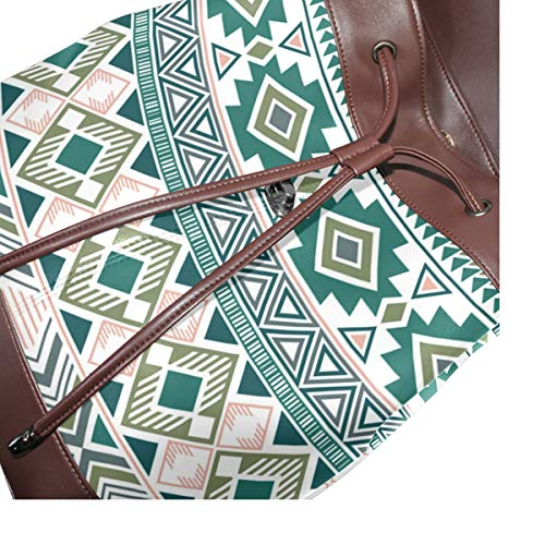 Indiansk ryggsäck handväska mode PU-läder ryggsäck ledig ryggsäck för kvinnor