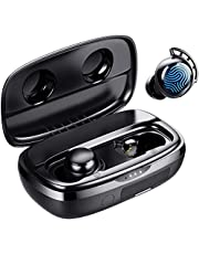 Fone de Ouvido, Tribit Tempo de Reprodução de 100 Horas Bluetooth 5.0 IPX8 Controle de toque à prova d'água Ture Fone de Ouvido Sem Fio Bluetooth com Mic Auriculares Graves Profundos Mic Embutido Fone de Ouvido Bluetooth, FlyBuds 3