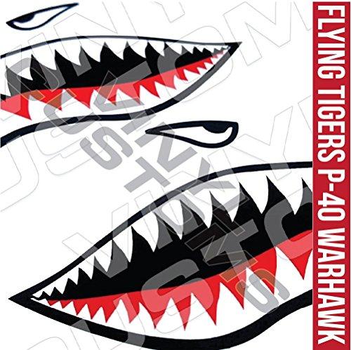 Flying Tigers Decals Shark Teeth Stickers (3