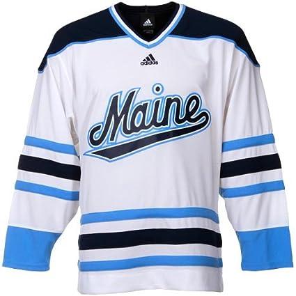 Amazon.com   adidas Maine Black Bears White Premier Hockey Jersey ... 84c738c7c6c